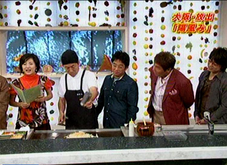 魔法のレストラン出演メンバー左から水野真紀さん、店長、トミーズ健さん、渡辺徹さん、橋本徹さん