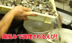 沢山の調理される海老