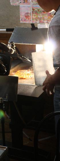 ジャガイモキムチ焼き(大阪焼き)の撮影