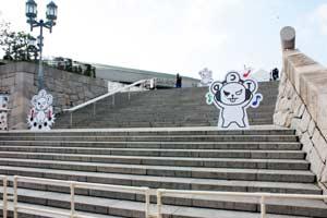 大阪城ホール入り口階段