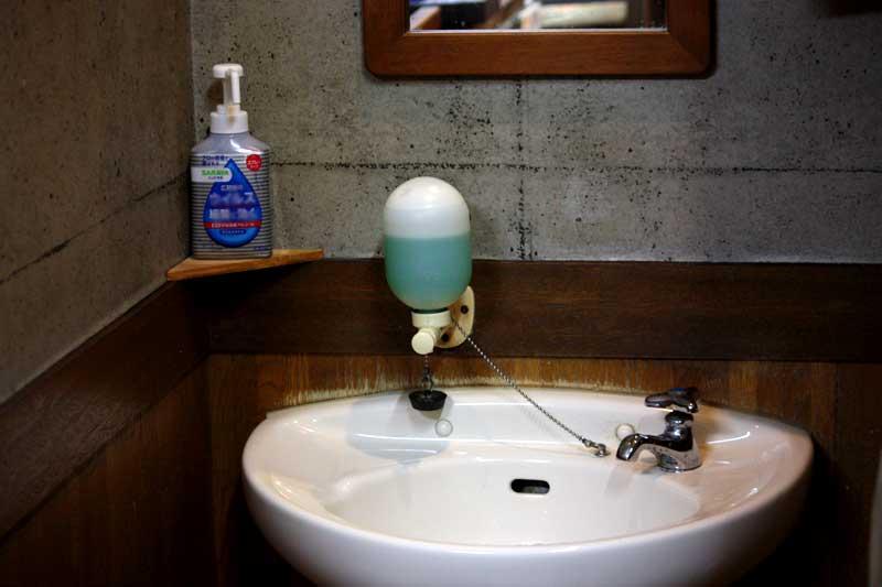 手洗い場の除菌スプレー